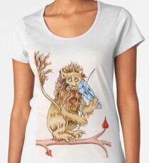 Camiseta premium de cuello ancho EL LEÓN FIDDLING