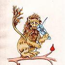 THE FIDDLING LION by DavidAEvans