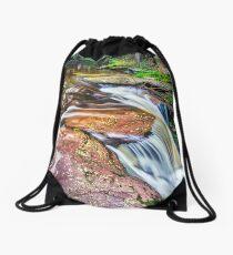 Top of Adams Falls, 2018.07.17 Drawstring Bag