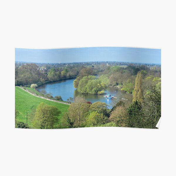 The view from Richmond Hill, London Poster