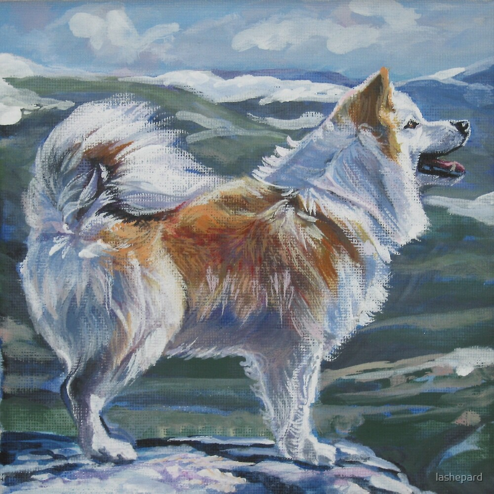 Icelandic Sheepdog Fine Art Painting by lashepard