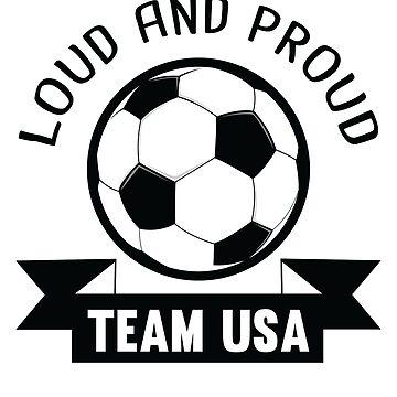 USA National Team Soccer Fan Shirt by allsortsmarket