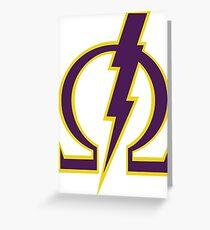 Omega Lightning Bolt Greeting Card