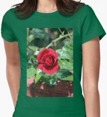 Our 2015 Red Roses Are Now Beginning to Show Womens Fitted T-Shirt