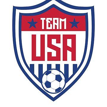 2018 USA United States Soccer National Team Soccer Tee  by allsortsmarket