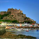 """Mount Orgueil Castle, Gorey Harbour"" by Bradley Shawn  Rabon"
