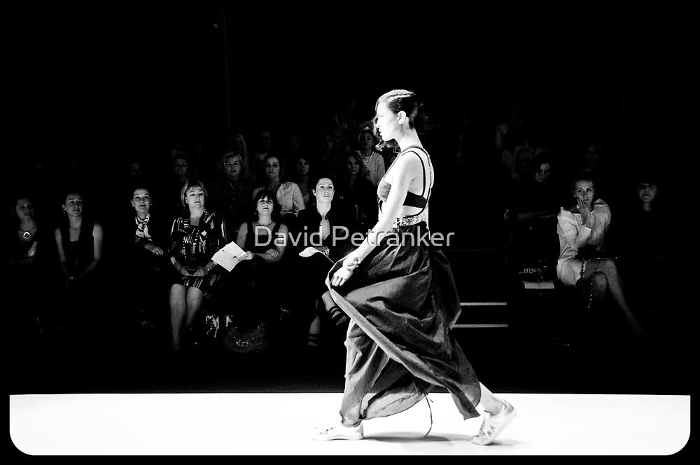 Diet Coca Cola Little Black Dress Show -B&W by David Petranker