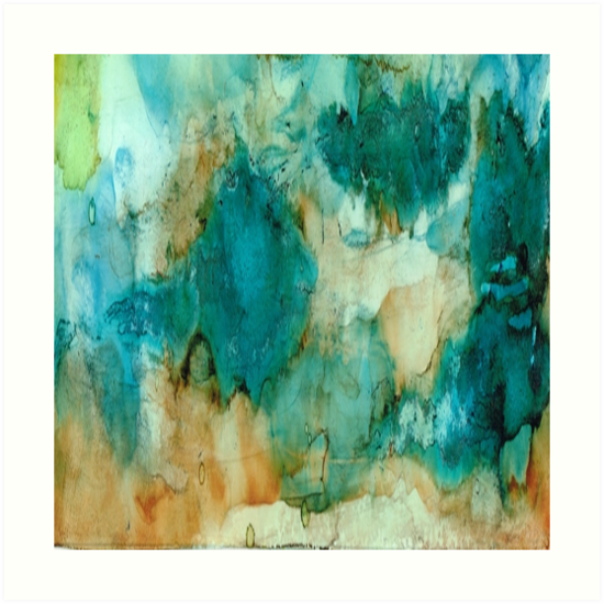 Waterfall - Art Abstract by Rosie Brown