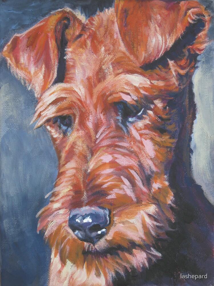 Irish Terrier Fine Art Painting by lashepard