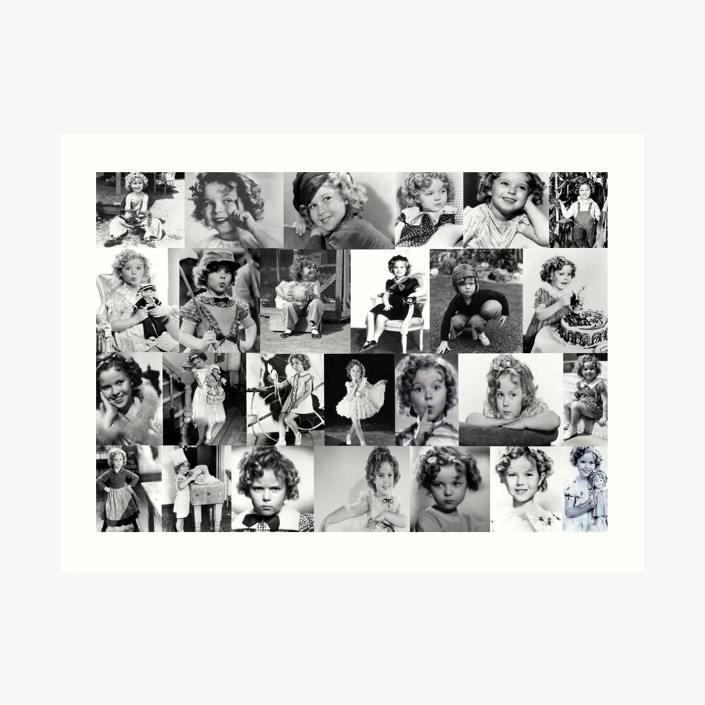 Shirley Temple Collage Art Print