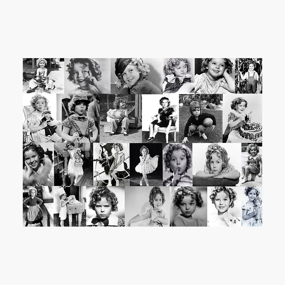 Shirley Temple Collage Photographic Print