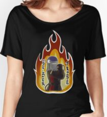 Mig Welder Pride Black and Red Fire Women's Relaxed Fit T-Shirt