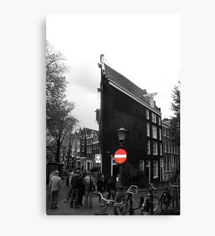 Slim buildings Amsterdam Canvas Print