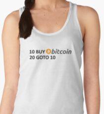 10 BUY Bitcoin 20 GOTO 10 Women's Tank Top