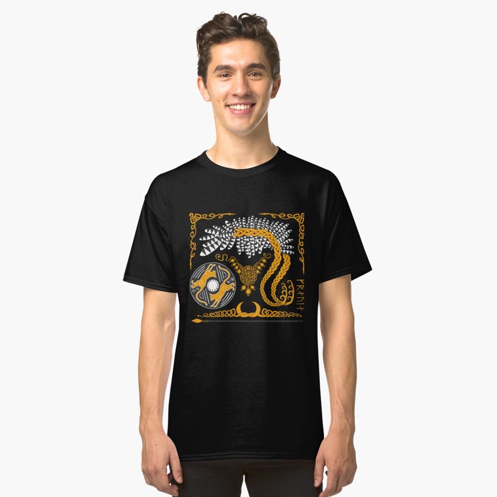 Freyja - Gold Classic T-Shirt Front