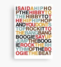 Rappers Freude - Sugarhill Gang Leinwanddruck
