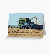 Harvesting wheat Greeting Card
