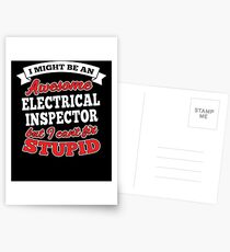 ELECTRICAL INSPECTOR T-shirts, i-Phone Cases, Hoodies, & Merchandises Postcards