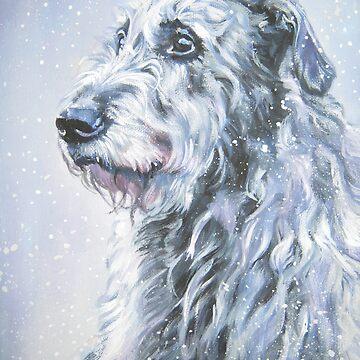 Irish Wolfhound Fine Art Painting by lashepard