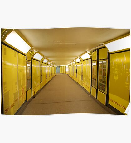 yellow tunnel Poster
