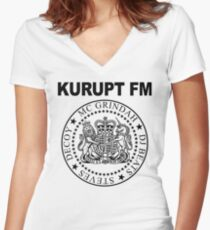 KURUPT FM Women's Fitted V-Neck T-Shirt
