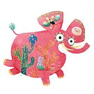 Pink Mexican Elephant  by monikasuska
