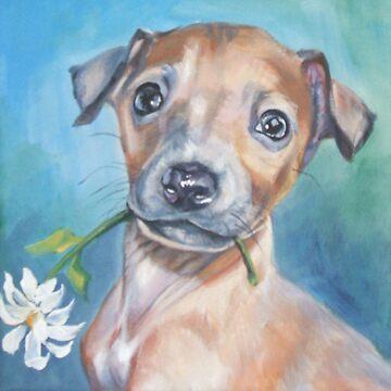 Italian Greyhound Fine Art Painting by lashepard