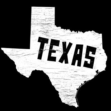 Texas Home Vintage Distressed Map Silhouette by YLGraphics