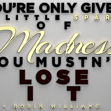 Spark of Madness - 3D Typography by SniperFox