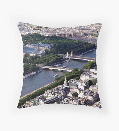 La Seine_Paris Throw Pillow