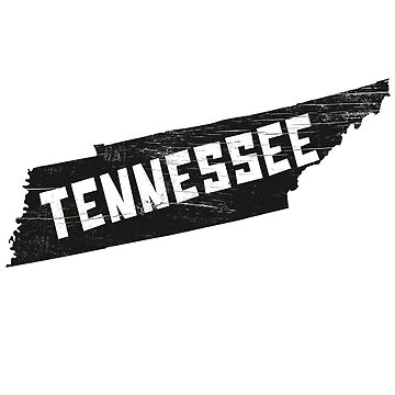 Tennessee Home Vintage Distressed Map Silhouette by YLGraphics