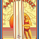 SANTA CRUZ PACIFIC COAST SURFING QUEENS OF THE SURF by Larry Butterworth