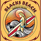 BLACKS BEACH SURFING SAN DIEGO CALIFORNIA by Larry Butterworth