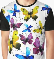 Butterfly heart, valentine illustration. Element for design Graphic T-Shirt