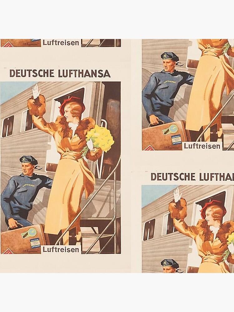 Luftreisen.. Vintage Lufthansa Ad.. circa 1930 by edsimoneit