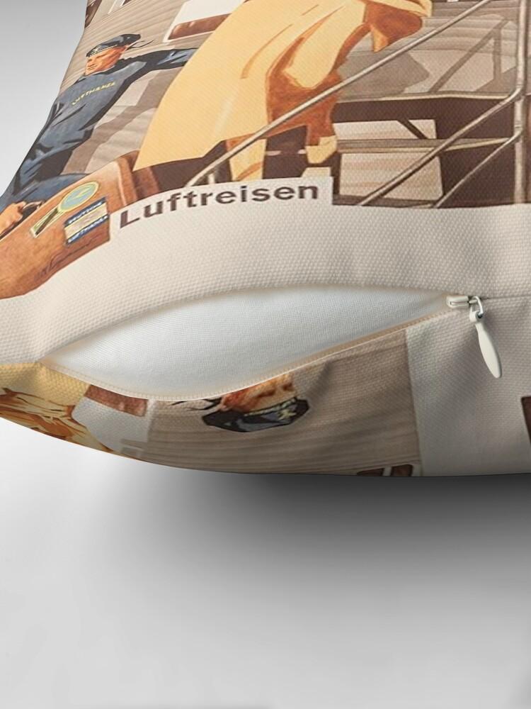 Alternate view of Luftreisen.. Vintage Lufthansa Ad.. circa 1930 Throw Pillow