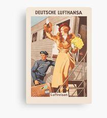 Luftreisen .. Vintage Lufthansa Ad .. um 1930 Leinwanddruck