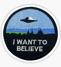 I want to believe patch inspired Sticker