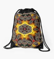 Fractal Elated Drawstring Bag