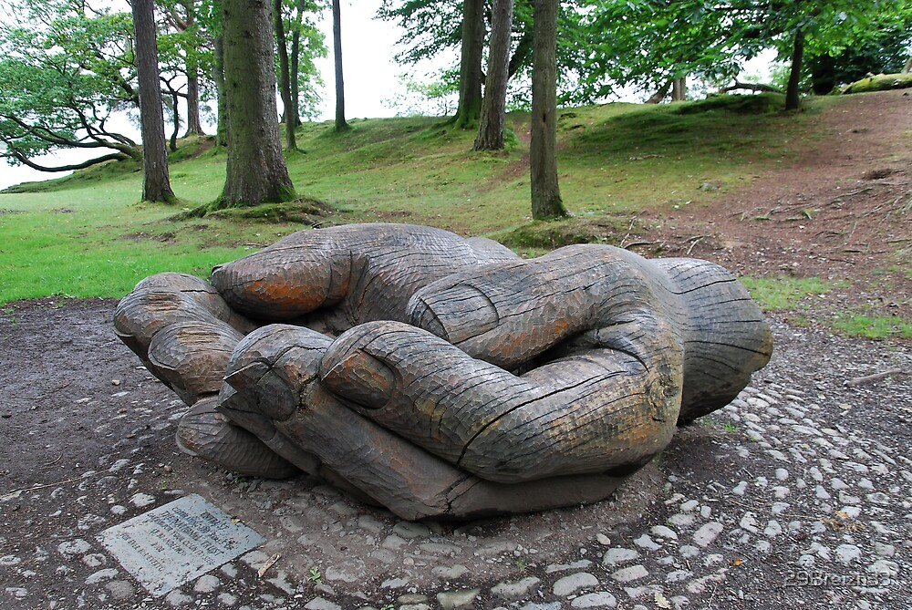 Wood sculpture near Derwentwater -  Lake District by 29Breizh33