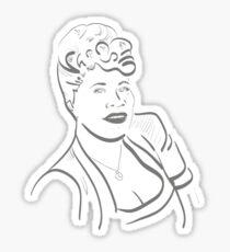Ella Fitzgerald Line Art Sticker