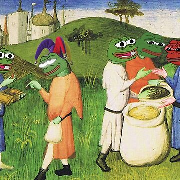 Medieval Pepe The Frog Libertarian Ancap FREE MARKET with Kekistanis trading together Rare PepetheFrog Renaissance HD by iresist