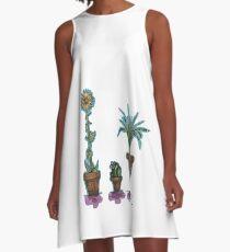 Topfpflanzen A-Linien Kleid