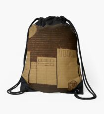 egg in the city Drawstring Bag