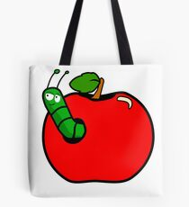 Caterpillar apple Tote Bag