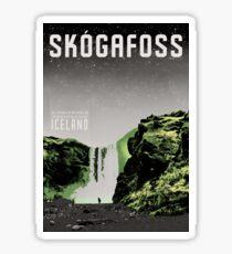 Iceland: Skogafoss Sticker