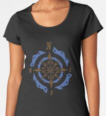 Steampunk Nautical Compass Gift Gears Clothing Decor Accesories Vintage Awesome Design Women's Premium T-Shirt
