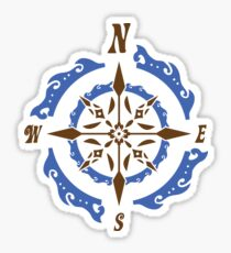 Steampunk Nautical Compass Gift Gears Clothing Decor Accesories Vintage Awesome Design Sticker