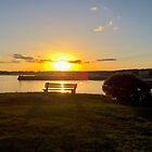 Sunset at Kennebunkport by Carol Bleasdale