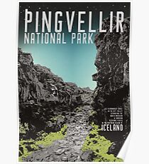 Island: Pingvellir Poster
